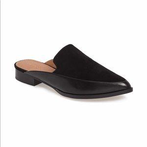 Halogen Black Suede Corbin Leather Loafer Mule 4